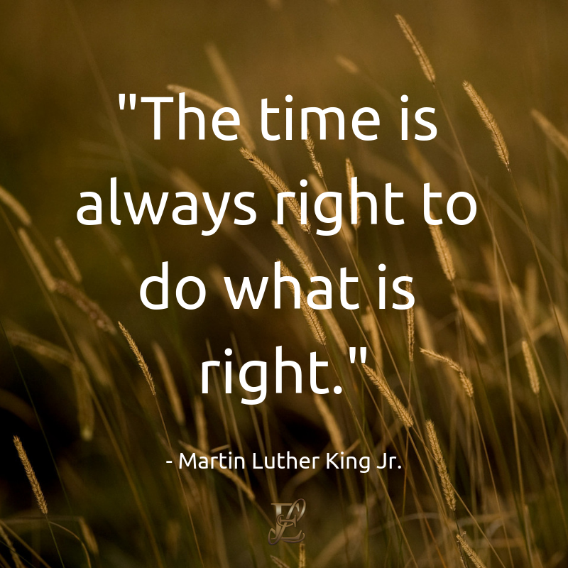 Martin Luther King, Esmie Lawrence, stress management, managing stress, podcast, esmie lawrence, freedom, negativity, 10 famous quotes, quotes, The time is always right to do what is right. quotation