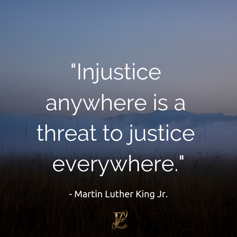 Martin Luther King, Esmie Lawrence, stress management, managing stress, podcast, esmie lawrence, freedom, negativity, 10 famous quotes, quotes, Injustice anywhere is a threat to justice everywhere.quotation
